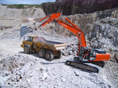 Limestone Quarry in Operation
